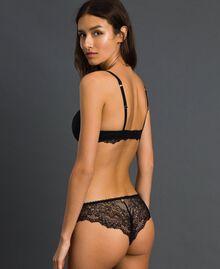 """Culotte brésilienne en dentelle Beige """"Nude"""" Femme 192LL6CXX-03"""