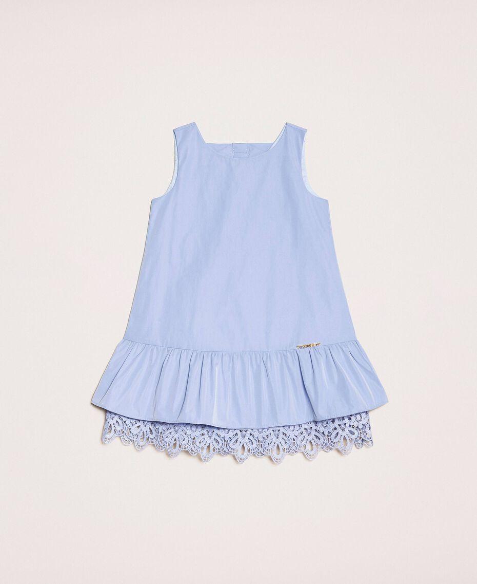 "Taffeta and lace dress ""Ice"" Dark Blue Child 201GB2Q2A-01"