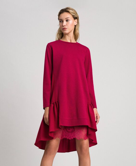 Asymmetric flounce dress