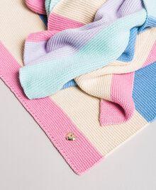 Écharpe jacquard rayée en coton Multicolore Couleur Pastel Femme 191MA4301-02