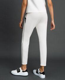 Pantaloni con tulle e pizzo Avorio Donna 192LL2CDD-03