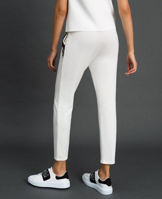 Pantalon avec tulle et dentelle Ivoire Femme 192LL2CDD-03