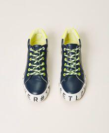 Sneakers mit Logo Blackout Blau Frau 202LIPZCC-05