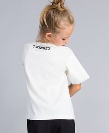 T-shirt in cotone con stampa Off White Bambina GA82B3-03