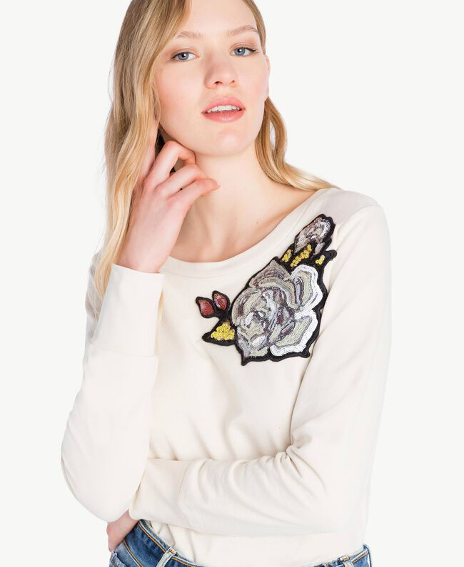 Sweat-shirt rose Blanc Parchemin Femme JS82H5-04
