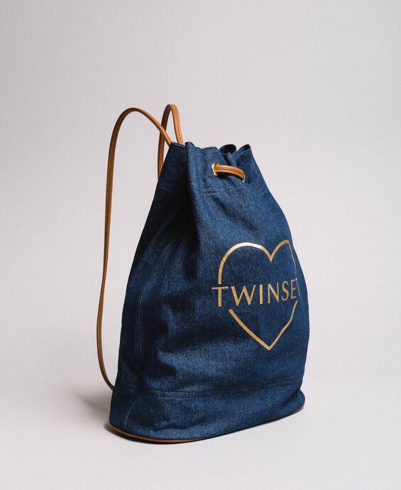Sac à dos bucket avec logo et cœur