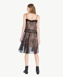 Kleid mit Spitze Schwarz Frau PS821G-03