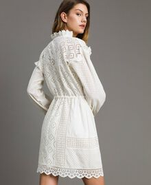 Broderie anglaise and ruffle dress White Snow Woman 191TT2044-03