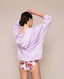 Длинная толстовка с вышитым логотипом Питон женщина 201TP2080-03