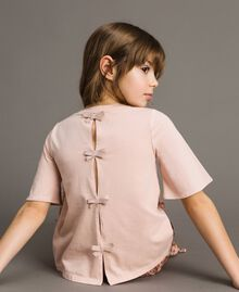 Jersey T-shirt with embroidery Blossom Pink Child 191GJ2032-04