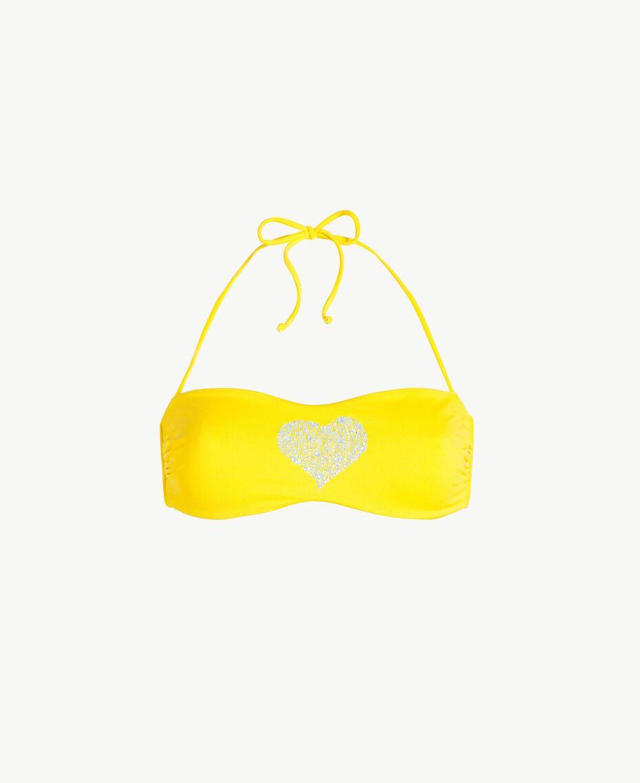 Soutien-gorge de bain bandeau strass Jaune Fizz Femme MS8M11-01