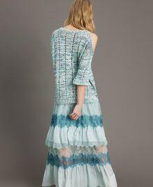 """Pull ajouré avec rubans Multicolore Fantaisie Bleu """"Mikonos"""" Femme 191TP3281-04"""
