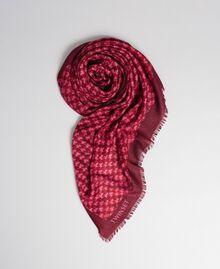 Keffieh avec imprimé papillons et logo Imprimé Papillon Rouge Betterave Femme 192TA440A-01