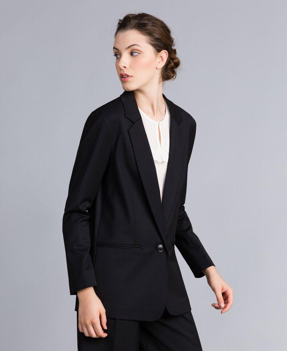 Veste en laine froide Noir Femme PA823R-02