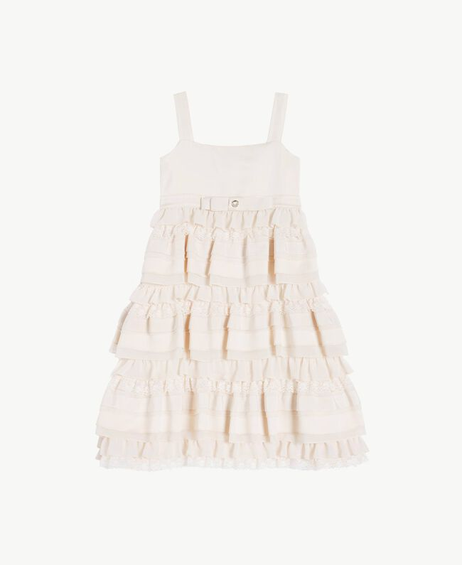 Flounced dress Pale Cream Child GS8LBG-01