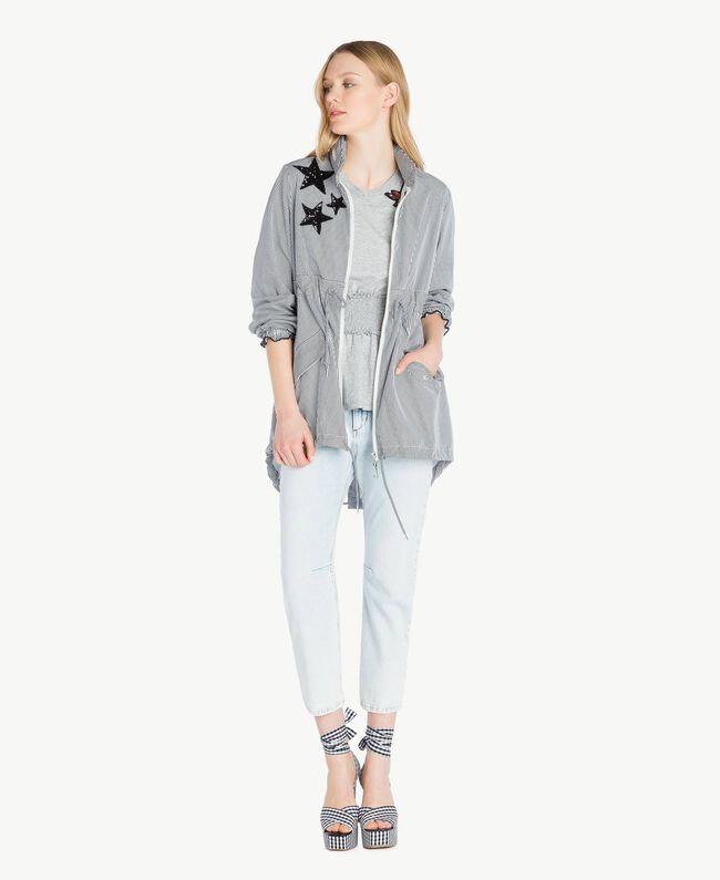 Sequined t-shirt Melange Grey Woman JS82RB-05