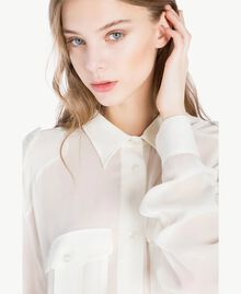 Georgette shirt Light Ivory Woman PS823F-04