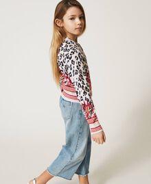 Bomber jacket cardigan with animal print Leopard Spot & Paisley Print Child 211GJ3542-02
