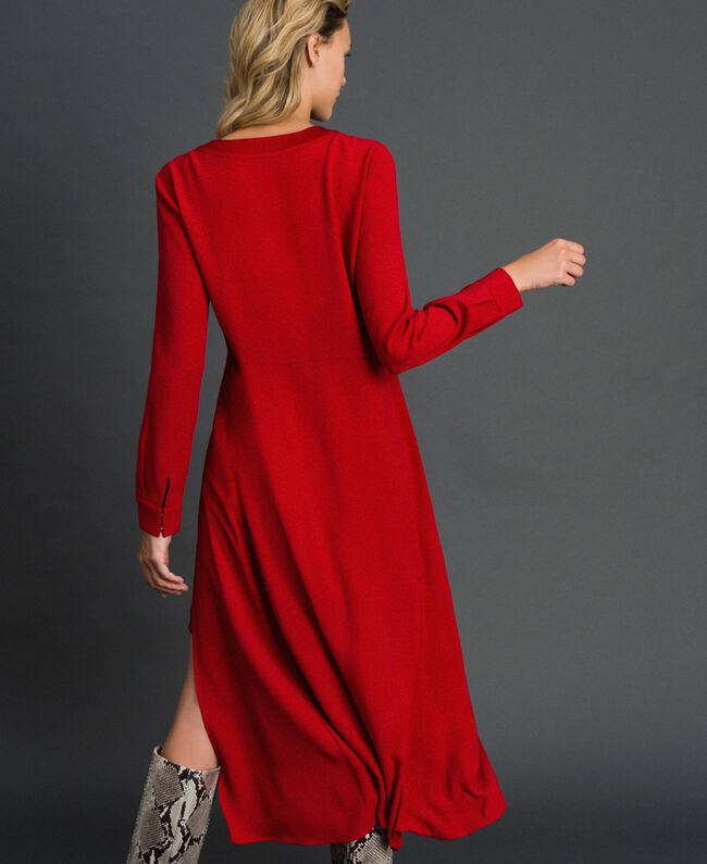 Midi dress with slip Venetian Red Woman 192TT229C-03