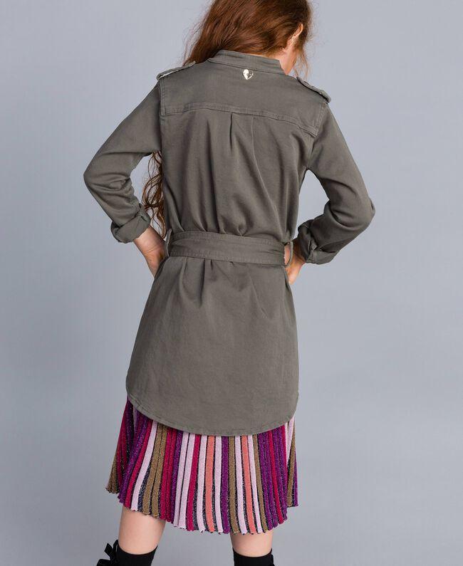 Hemdblusenkleid aus Baumwolle mit Stern Olive Kind GA827R-03