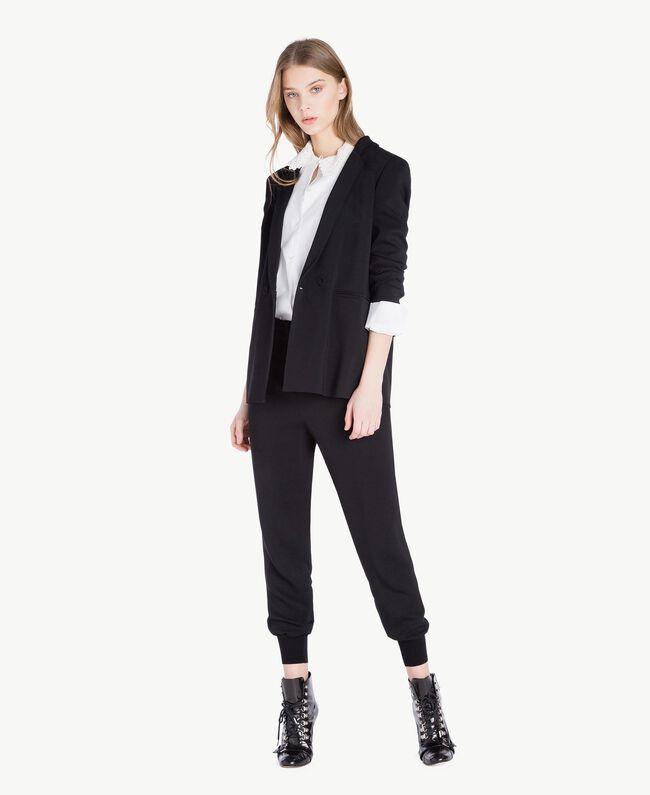 Pantalon georgette Noir Femme PS8258-05