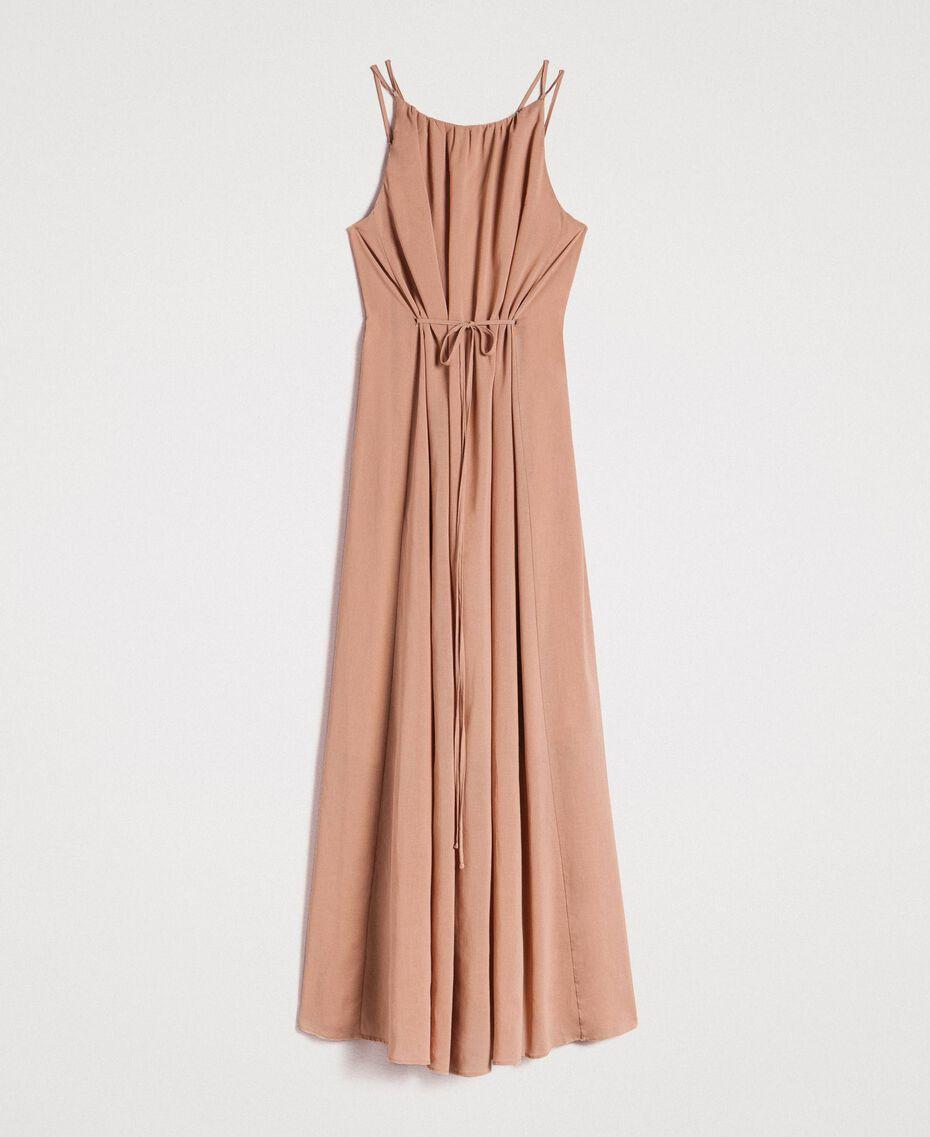 """Robe longue avec bretelles fines Marron """"Grès de Pétra"""" Femme 191LM2HAA-0S"""