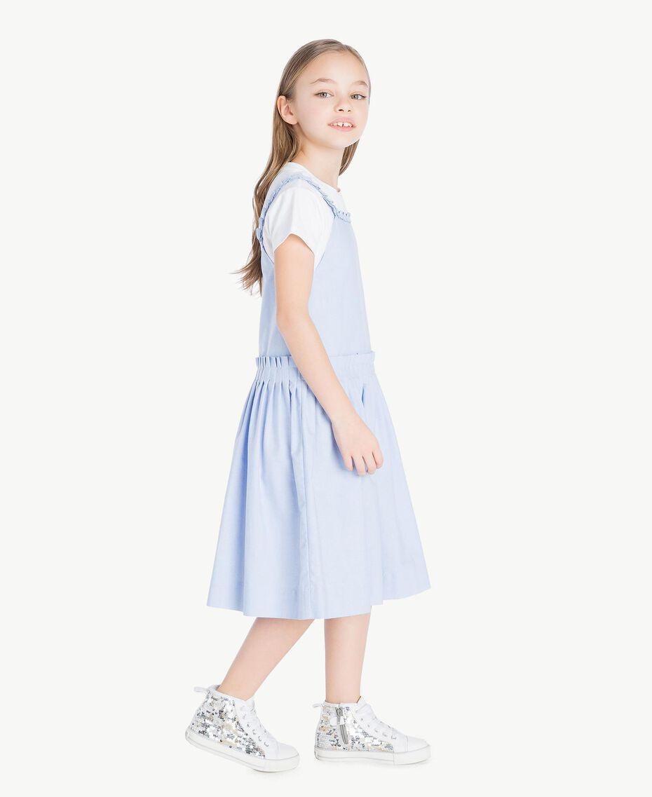 Ruched dress Infinite Light Blue Jacquard Child GS82QC-03
