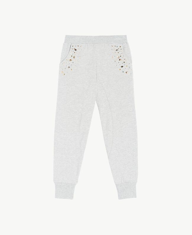 Studded trousers Light Gray Mélange Child GS82G4-01