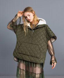 Kleid aus Plumetis-Tüll und Spitze Waldgrün Frau TA82XB-0T
