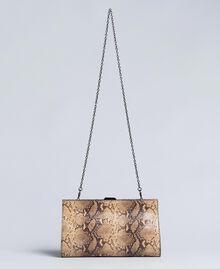 Pochette en cuir animalier Imprimé Camel Serpent Femme AA8PMA-03