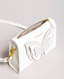 Faux leather shoulder bag with butterfly Off White Child 191GJ799F-04