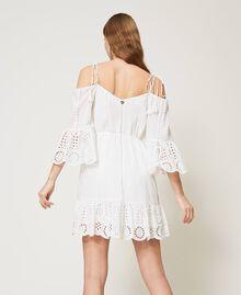 Robe Meknes épaules dénudées en mousseline avec broderie anglaise Off White Femme 211TT2701-04