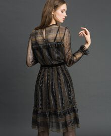 Lurex lace dress Black Woman 192TT2363-03