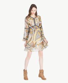 Kleid mit Print Paisleyprint Frau SS82MD-01