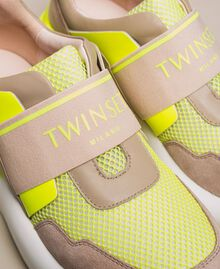 Running shoes with logo Two-tone Optical White / Fluo Yellow Woman 201TCP152-04