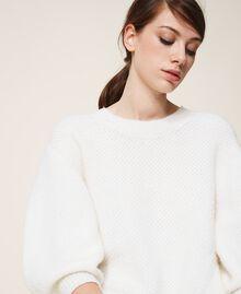 Robe en alpaga mélangé Blanc Crème Femme 202TP3240-04
