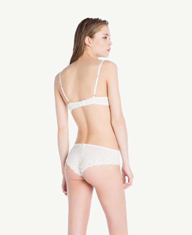 Broderie anglaise push-up bra (B cup) Ivory Woman LS8G44-04