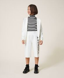 Maxi scuba sweatshirt with embroidery Off White Child 202GJ2700-0T