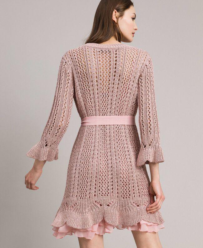 Lurex-Strick-Kleid Pearl Pink Lurex Frau 191TP3350-04
