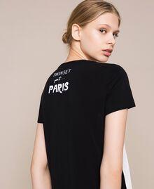Ночная рубашка с принтом Черный женщина 201LL26CC-03