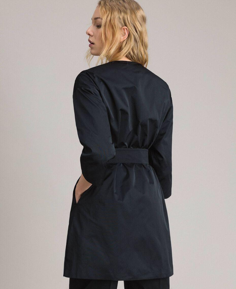 Taffeta duster coat Black Woman 191TP2655-03