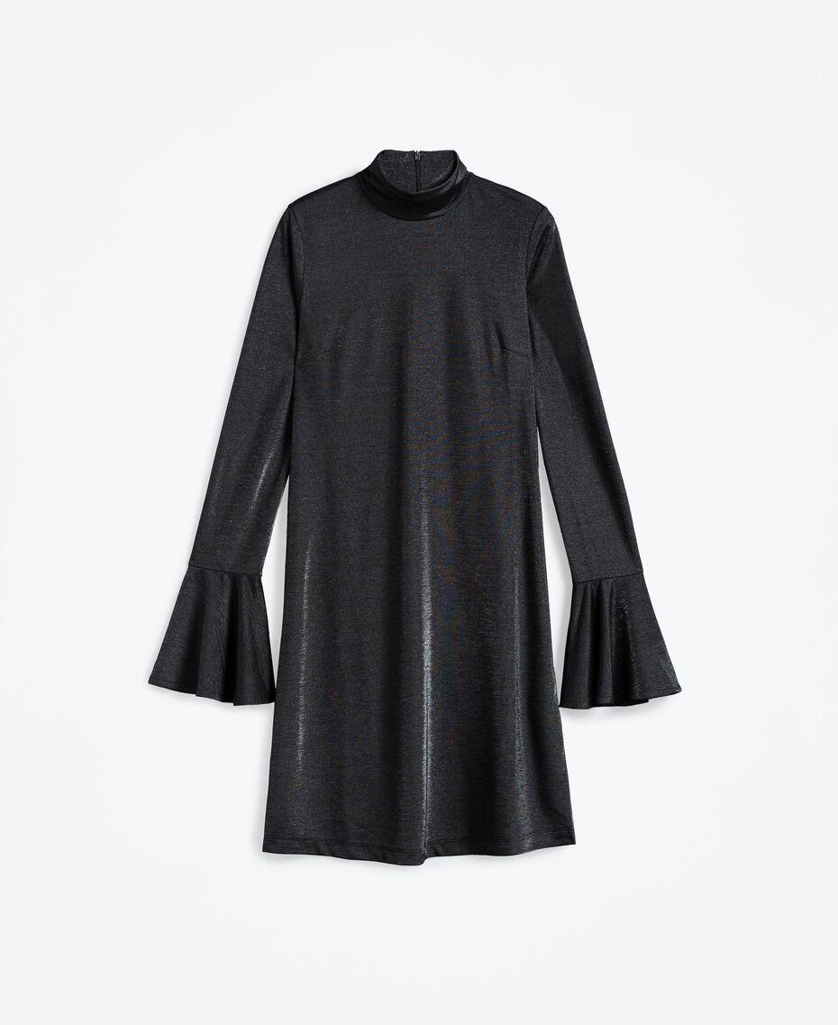 Jersey and lurex dress Black Woman LA8AEE-01