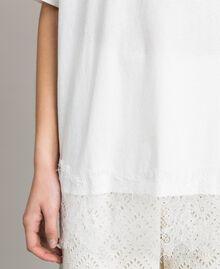 Maxi t-shirt avec dentelle Bicolore Blanc Cassé / Écru Femme 191ST2083-04