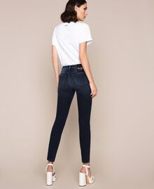 Push up jeans with sequins Denim Blue Woman 201MP2310-05
