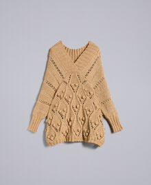 Mélange effect maxi jumper Camel Woman PA8371-0S