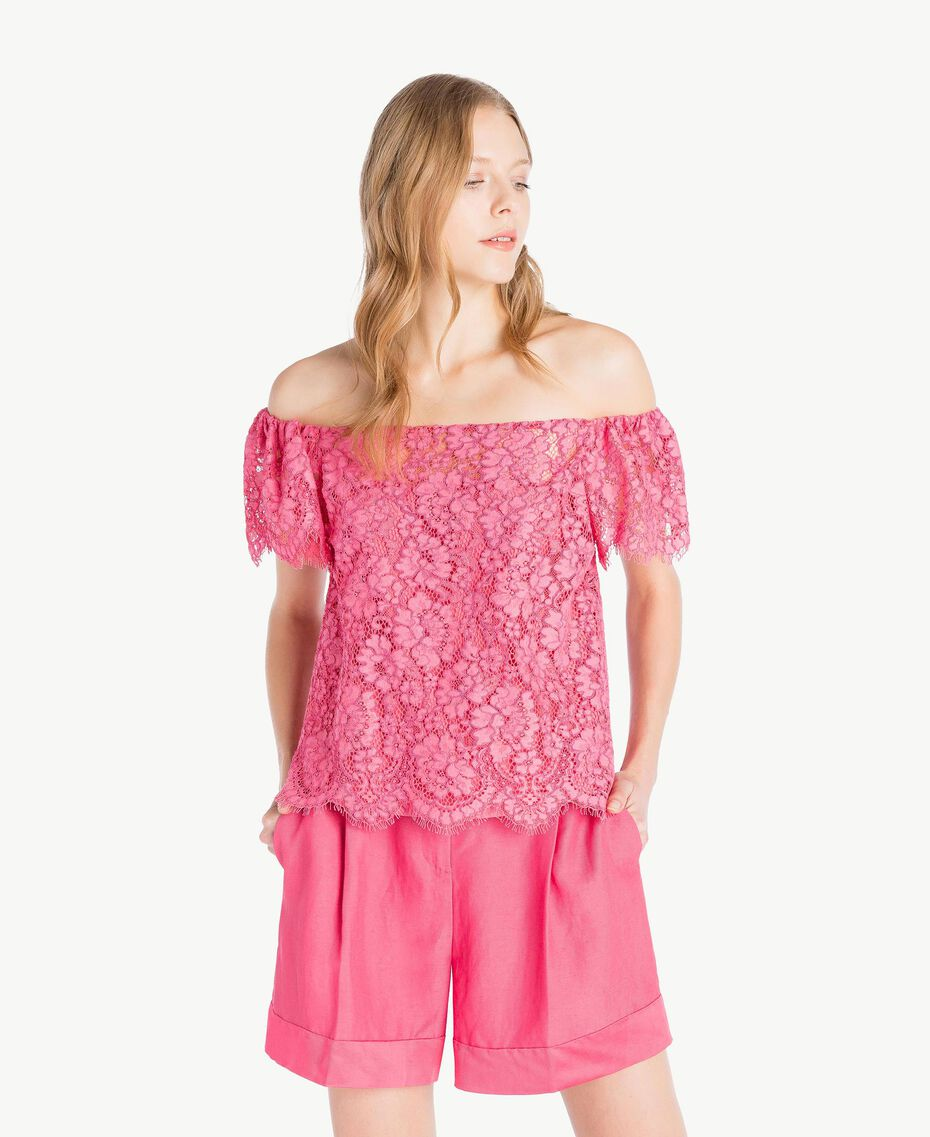 Top pizzo Provocateur Pink Donna TS828S-01