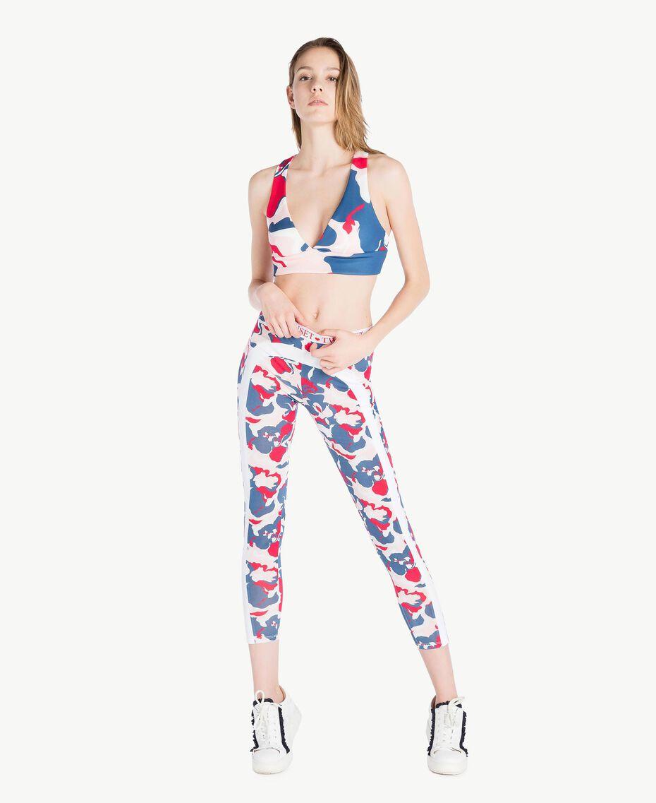 "Printed leggings ""Camouflower"" Print Woman LS86JJ-02"