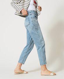 Jeans with bezel fringes Denim Woman 211TT2382-03