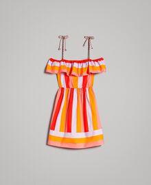 Robe en popeline à rayures multicolores Imprimé Multicolore Grenadine Femme 191TT2412-0S