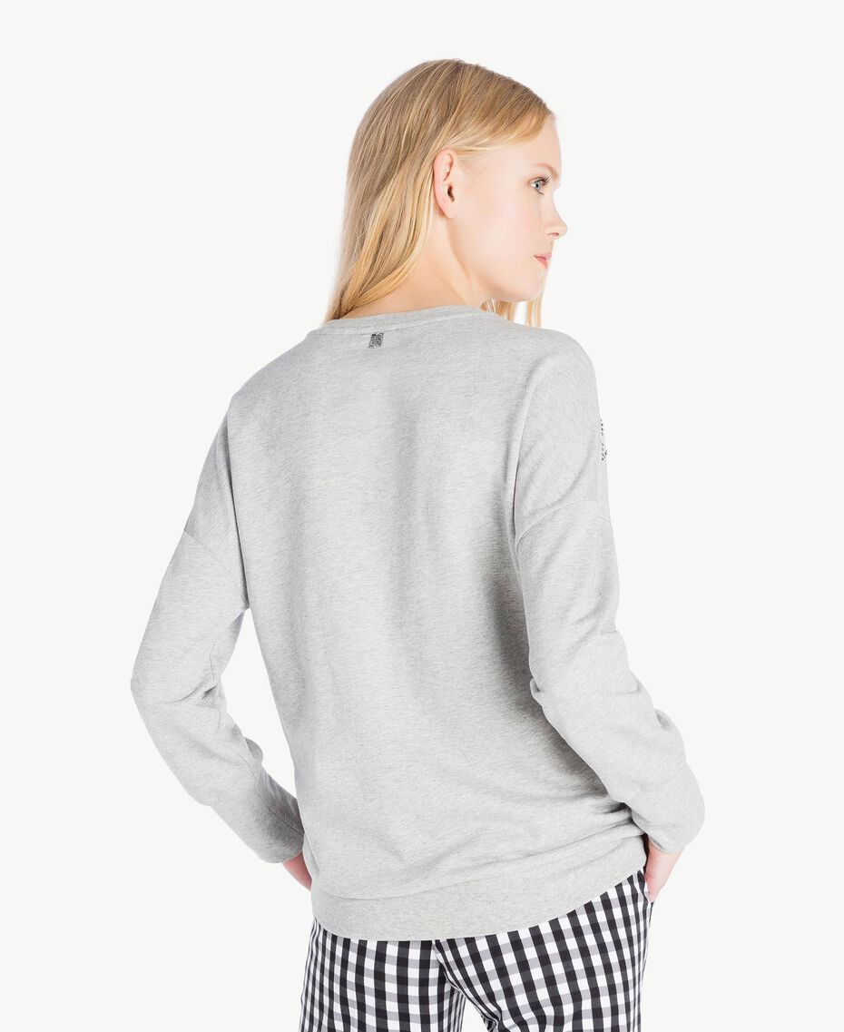 Sweat-shirt étoiles Gris Mélangé Femme JS82H2-03